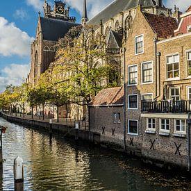 Grote Kerk en Pottenkade, Dordrecht van Gerrit Veldman