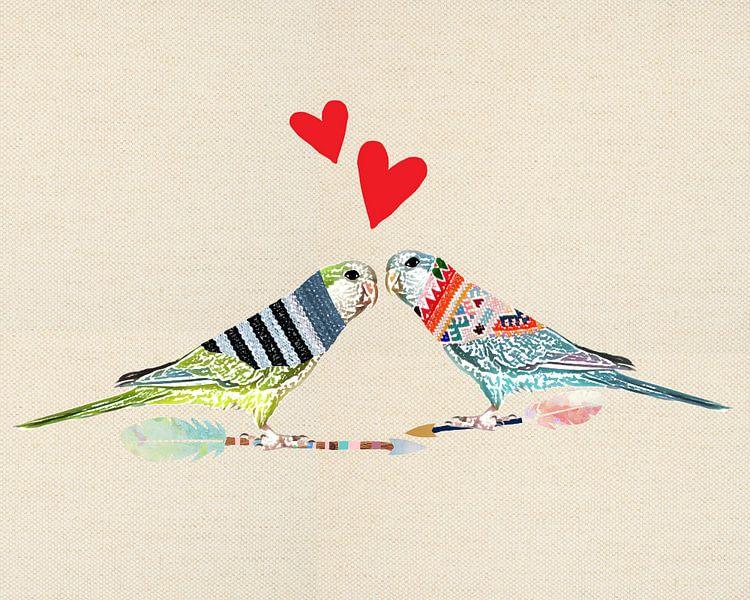 Love birds van Green Nest