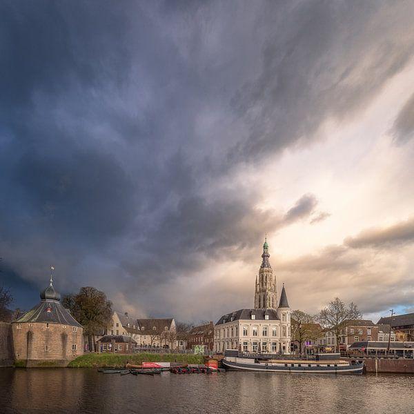 Stormlucht boven Het Spanjaardsgat in Breda van Joris Bax