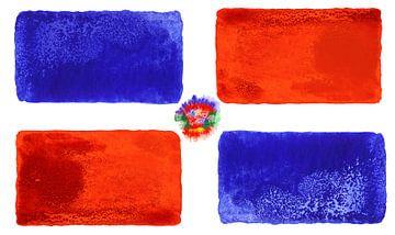 Symbolische nationale vlag van de Dominicaanse Republiek van Achim Prill