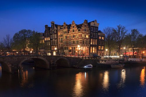 Amsterdamse grachtenpanden aan de Brouwersgracht