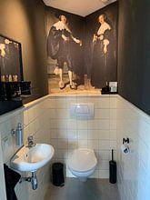 Klantfoto: Marten Soolmans van Rembrandt van Rijn, op behang