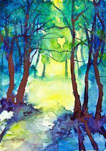 Zomer in het Bos van