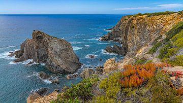 Vue de la côte portugaise pendant le Fisherman's Trail sur Jessica Lokker