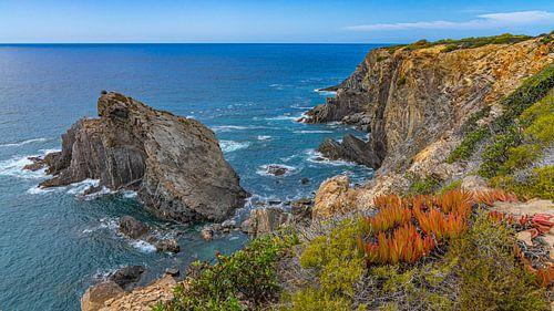 Uitzicht kust Portugal tijdens Fisherman's Trail