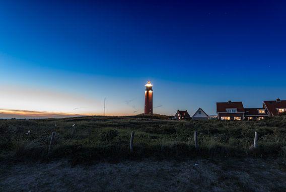 Eierland - Leuchtturm auf Texel van Hannes Cmarits