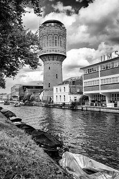 De watertoren aan het Heuveloord in Utrecht aan de Vaartsche Rijn van De Utrechtse Grachten