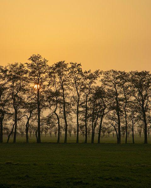 Rode zonsondergang van Jaap Tempelman