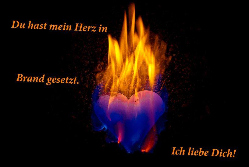 Je hebt mijn hart in vuur en vlam. Ik hou van je! van Norbert Sülzner