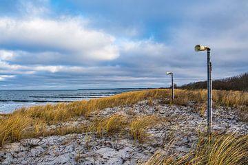Lautsprecher an der Küste der Ostsee auf dem Fischland-Darß von Rico Ködder
