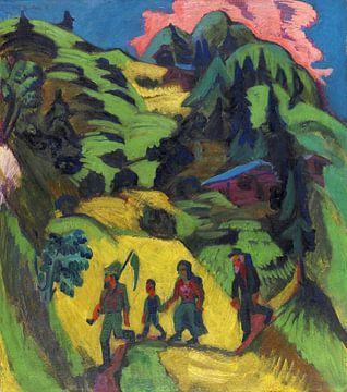 Heimkehrender Heuer, ERNST LUDWIG KIRCHNER, 1918 von Atelier Liesjes