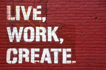 Live, Work, Create sur Maarten De Wispelaere