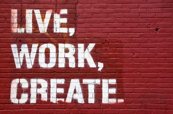 Live, Work, Create von Maarten De Wispelaere