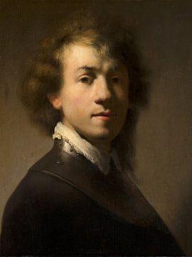 Porträt von Rembrandt mit Ringkragen - Schüler Rembrandts