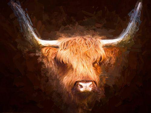 Geschilderd portret van een Schotse Hooglander