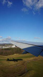 Flugzeug landet, Zürich, Schweiz