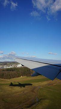 Flugzeug landet, Zürich, Schweiz von Joost Jongeneel