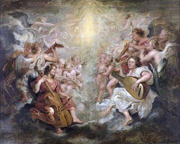 Engel machen Musik, Peter Paul Rubens - 1627 von Atelier Liesjes