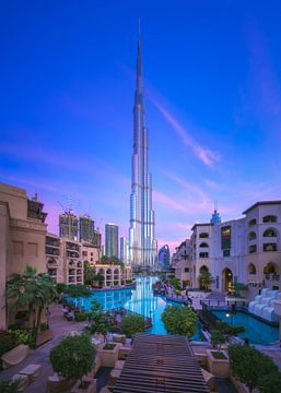 Dubaï Burj Khalifa au lever du soleil sur Jean Claude Castor