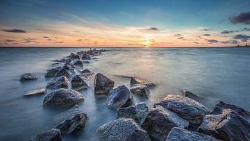 Sereen uitzicht op het IJsselmeer 3 van Bert Nijholt