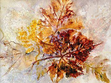 Blätter im Schnee von Christine Nöhmeier