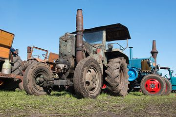 Oude tractoren van Elles Rijsdijk