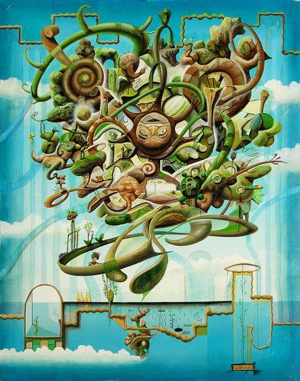 Grünlicher Planet van Silvian Sternhagel