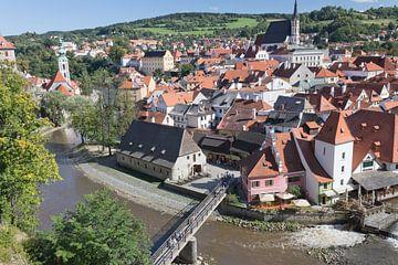 Uitzicht over de plaats Cesky Krumlov. von