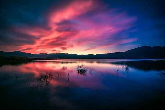Sunset van Ronnie van Westfoto