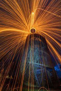 Lightpainting van Lisa Kompier