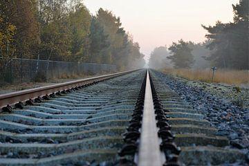 Treinrails von Wouter Bakker