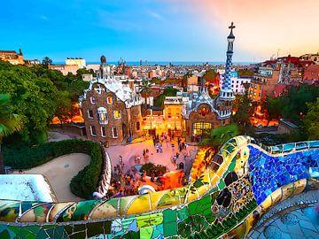 Aquarel Pencil - Cities of Colors - Barcelona von Doesburg Design