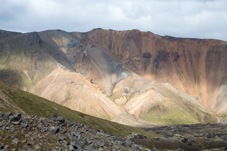 IJslands binnenland Landmannalaugur van Menno Schaefer