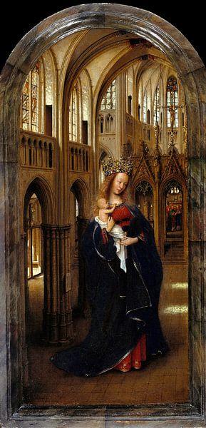 Jan van Eyck - De Madonna in de Kerk van 1000 Schilderijen