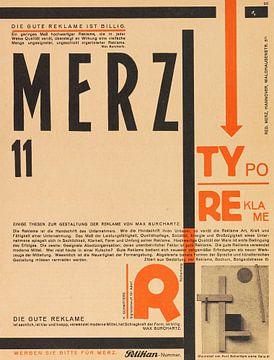 KURT SCHWITTERS, Merz 11. Typoreklame, 1924