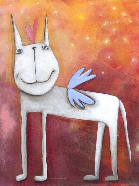 Angel Paard - Schilderij voor Kinderen van Atelier BuntePunkt