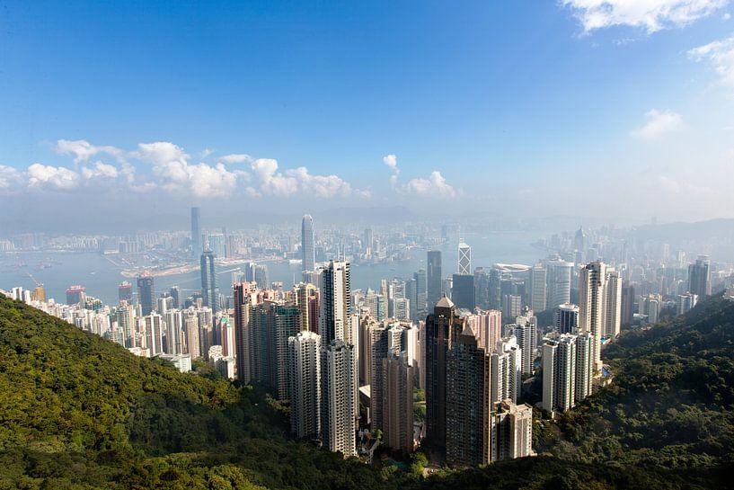 Skyline Hong Kong vanaf de Victoria Peak van Gijs de Kruijf