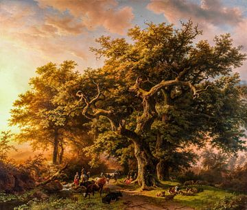 Kijkje in het bos, digitaal gerestaureerd van Lars van de Goor