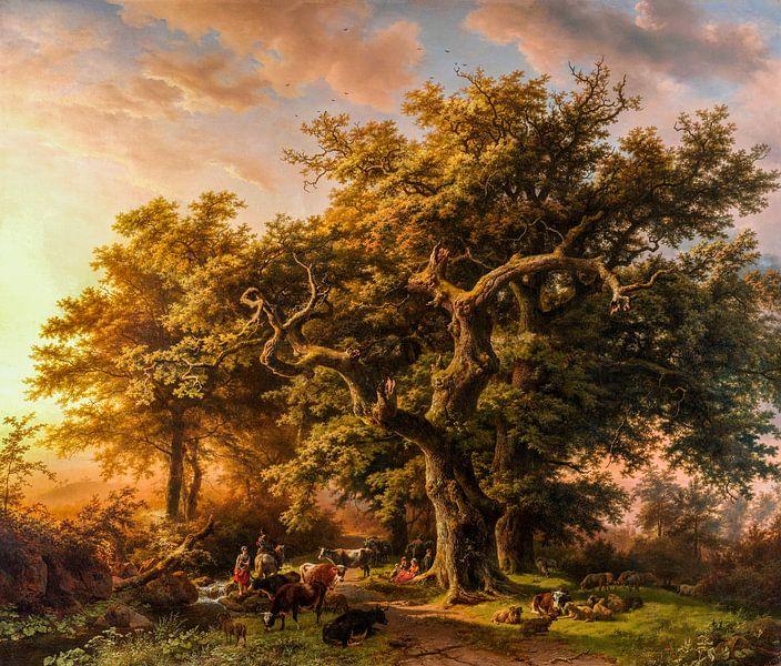 Blick in den Wald, digital restauriert von Lars van de Goor