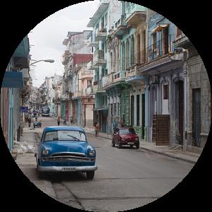 Straatbeeld Cuba van Sander Meijering
