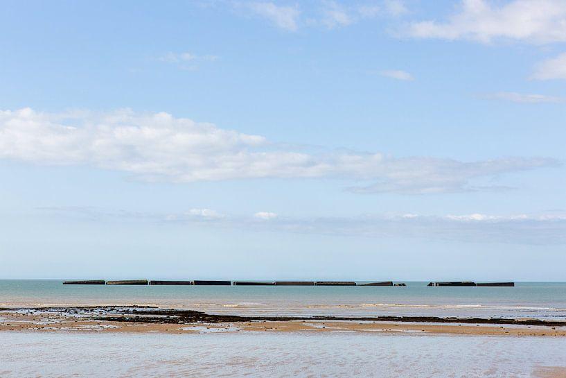 Zeezicht Normandië van Matty Maas