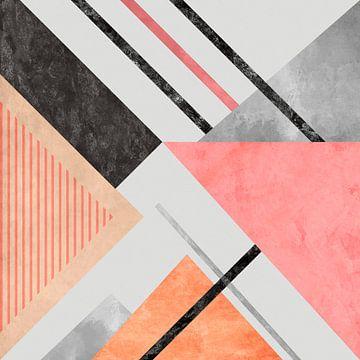 Geometrisch patroon met driehoeken 3 van Angel Estevez