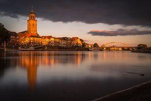 Gouden licht over Deventer van