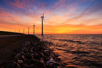 Markermeer windmolens sur Dennis van de Water