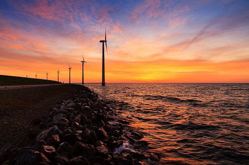 Markermeer windmolens van Dennis van de Water