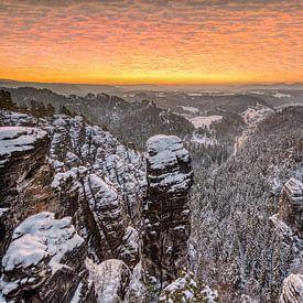 Winter in Saksisch Zwitserland van Michael Valjak