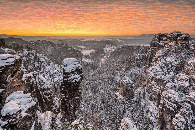 Winter in der Sächsischen Schweiz von Michael Valjak