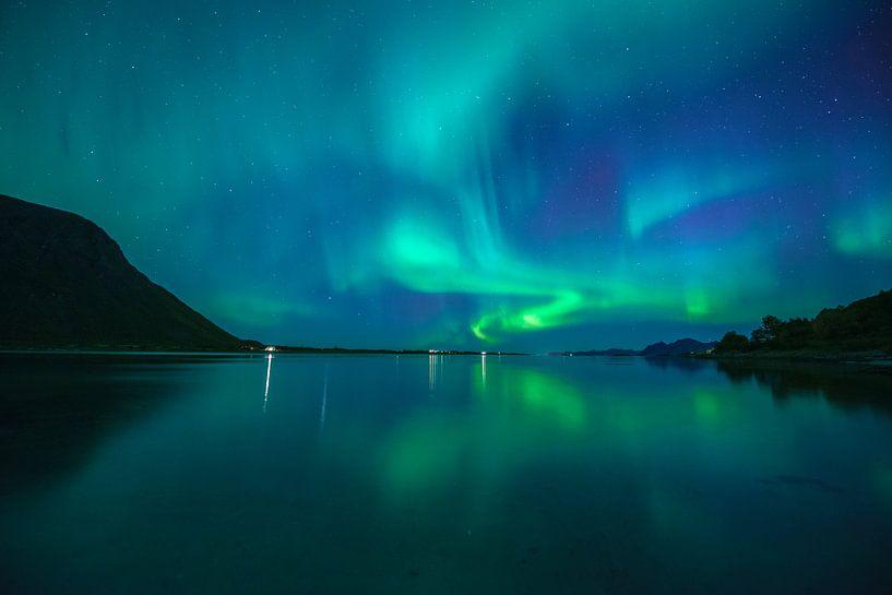 Aurora über den Lofoten von Marc Hollenberg