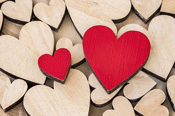 Valentijnsdag met veel romantische liefdeshartjes van Alex Winter