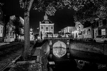 Stadsgezicht van het vestingstadje Nieuwpoort van Gert Jan Geerts
